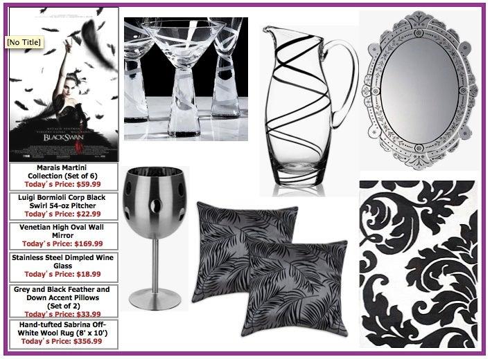 Desperate Retailer Presents Social Network & Black Swan-Inspired Decor