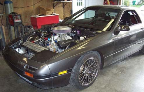 Engine Swap Of The Day: NASCAR-Spec Chevy Small-Block In Mazda RX-7