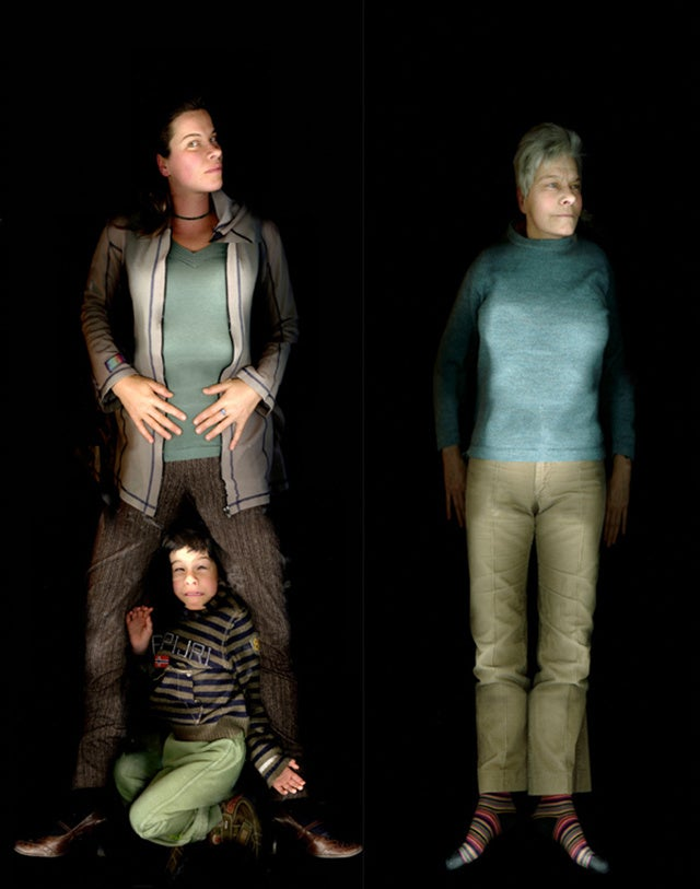 Creepy Portraits of People Taken by a Desktop Scanner