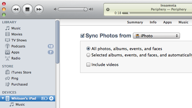 iOS 4.3 Syncing Problems? Try Re-Syncing Your Photos
