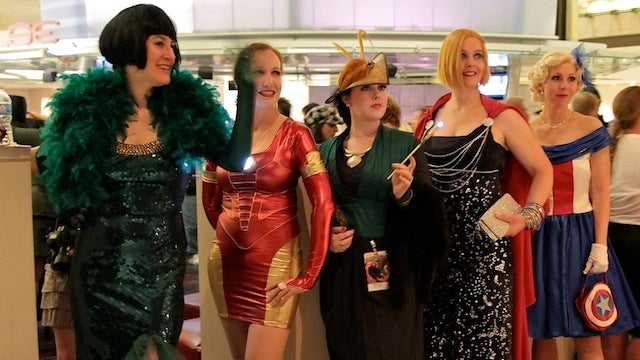 Avengers evening gowns assemble in real life