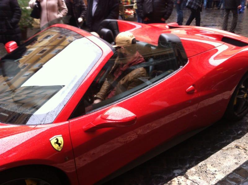 17,000 calories and a Ferrari 458 do not mix well.