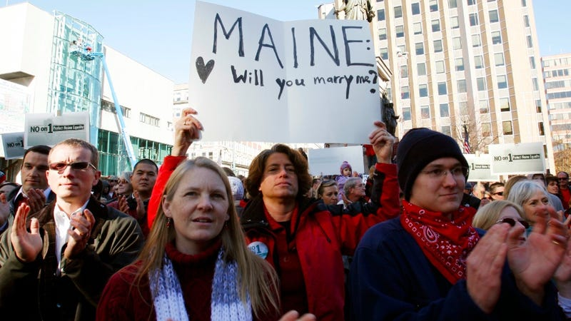 Gay Marriage in Maine is Legal Starting at Midnight