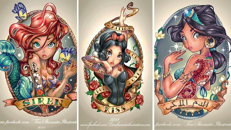 The Disney Princesses Get Inked