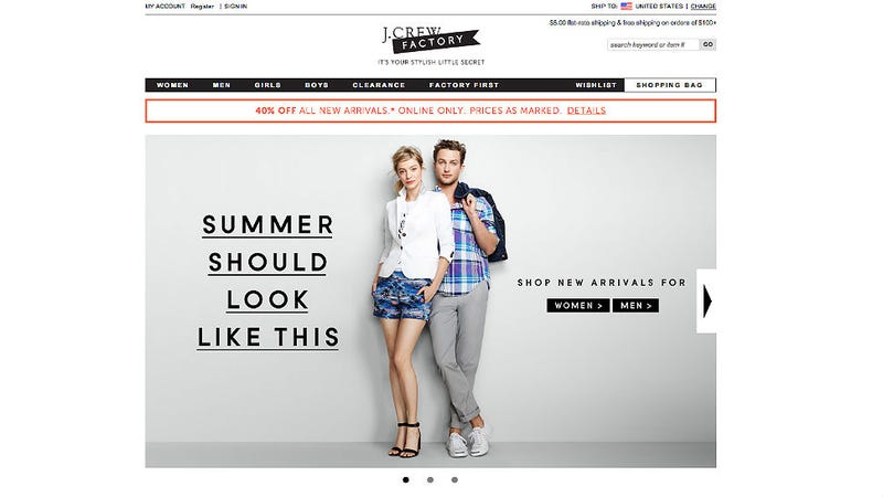 Your J.Crew Outlet Clothes Aren't 'Discounted,' They're Just Cheap