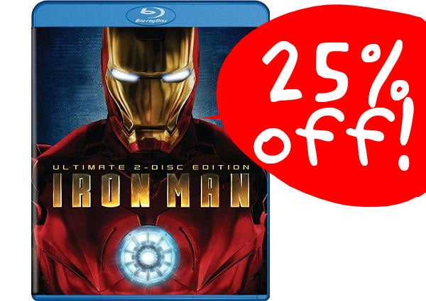 25% Off Blu-ray Sale on All Titles, Including Iron Man, Futurama, and the Godfather