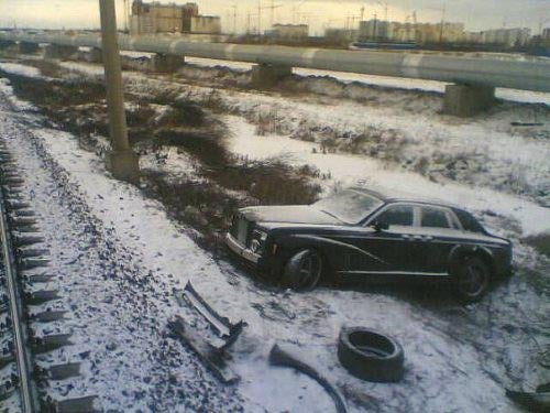 Russia: Where A Rolls Royce Is Trackside Garbage