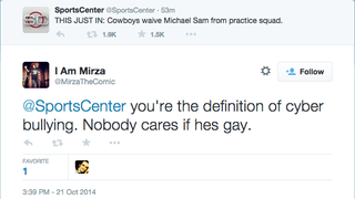 The Cowboys released Michael Sam today, and PFT Commenter found that a lot of people (make sure to say they) don't care. [Strong Takes]