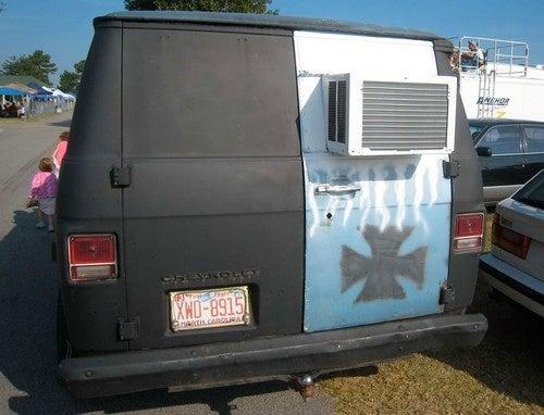 Primer Chevy Van Down On The South Carolina Street