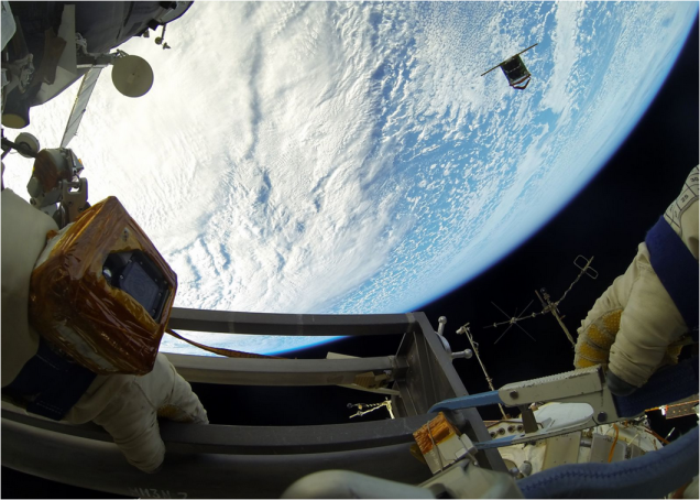 Beautiful Images of Astronauts Releasing Nanosatellites Into Space