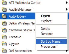 Alphabetize the Start Menu's Program list