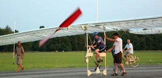 Crazy Teenager Takes Off In Homemade Pedal-Powered Aircraft