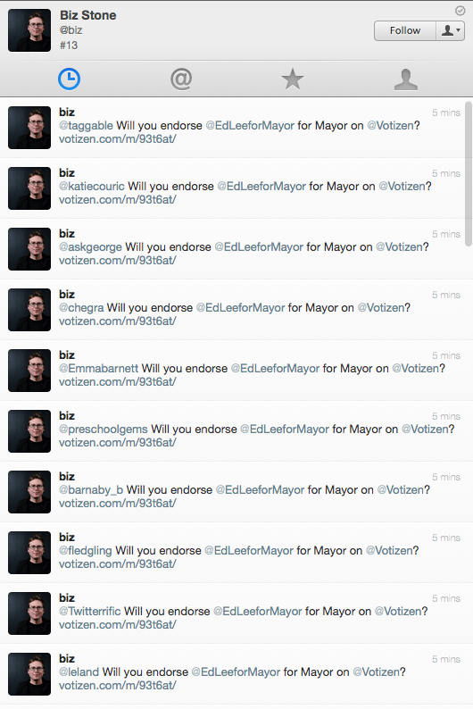 Even Twitter Founders Get Twitter-Jacked (Updated)
