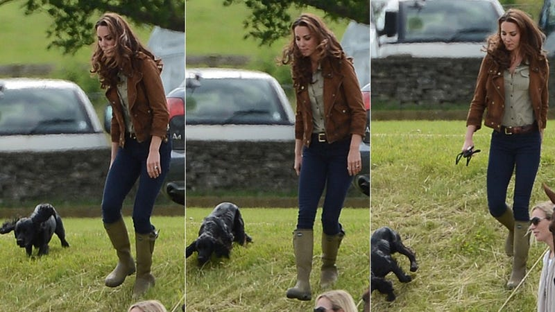 Get Ready to Cream Your Crumpets: Prince William and Duchess Shinylocks Hang With a Dog and a Baby