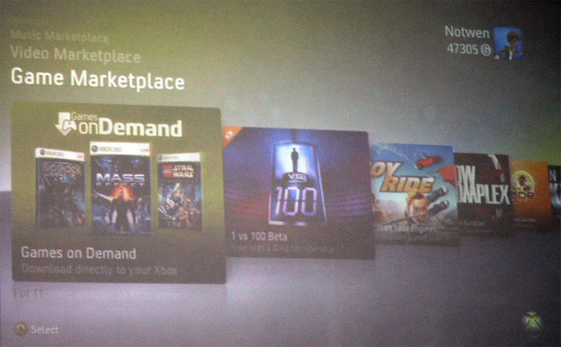 Microsoft Offering 360 Games On Demand Starting August