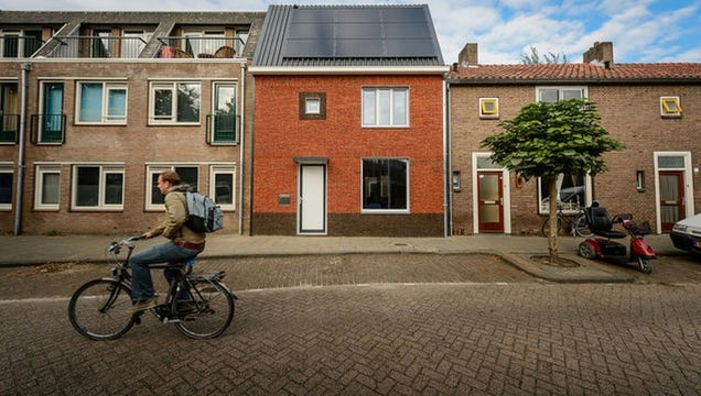This Handsome Brick Facade Is Insulation That Snaps on Like Lego