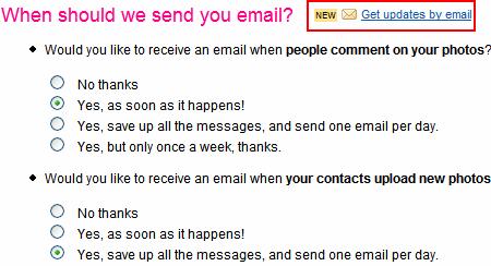 Get Flickr Notifications via Email