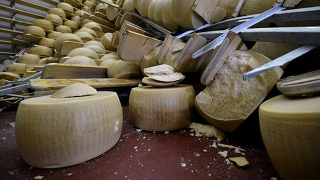 Unspeakable Tragedy: $320 Million of Cheese Destroyed in Italian Earthquake