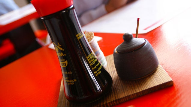 De-Grease Your Stove with Soy Sauce