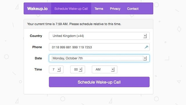 Wakeup.io Wakes You With a Free Wake Up Call, Anywhere in the World