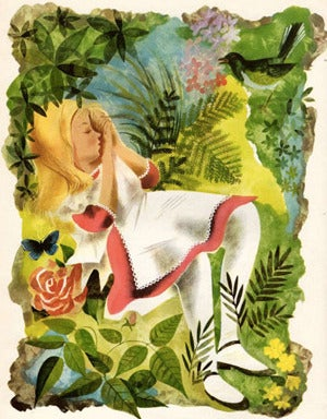 Astonishingly Lovely Illustrations from the 1949 Alice in Wonderland Edition