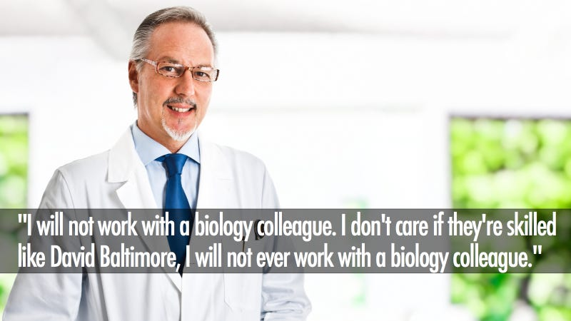 Delusional Scientist Has Incredible List of Collaboration Requirements