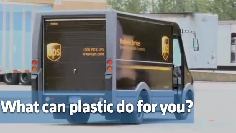 Plastic UPS trucks could be the next big, brown thing