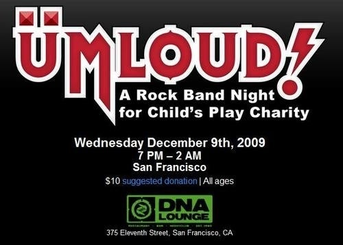 Rock Out For Child's Play Tonight In San Francisco!