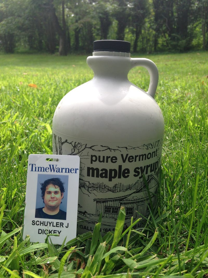 Schuyler Dickey's ID, With Vermont Maple Syrup