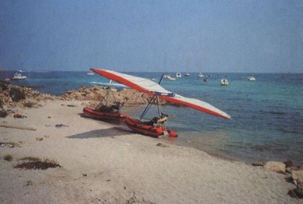 Dinghy + Hang Glider + Giant Engine = Hilarious Obituary