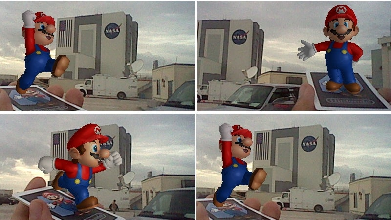 Mario Bids Bon Voyage to the Space Shuttle