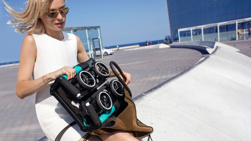 You Can Squeeze the World's Most Compact Folding Stroller Into a Shoulder Bag
