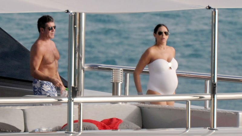 Simon Cowell Prepares for Imminent Fatherhood by Partying With Exes