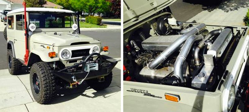 This Old Toyota Land Cruiser Is The Weirdest Place For A Supra Engine