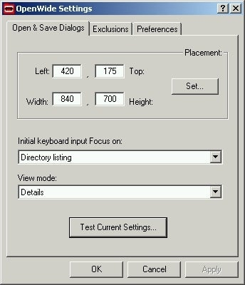 Customize the Open and Save Dialog with OpenWide