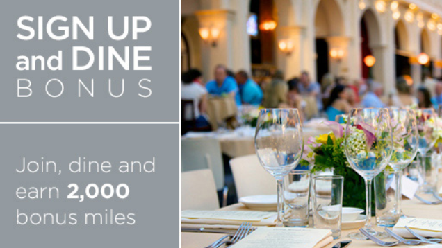 Get Free Airline Miles When You Dine Out