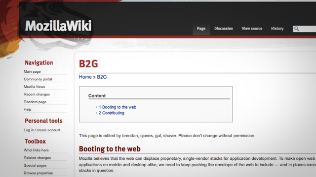 """Remains of the Day: Mozilla's """"Boot to Gecko"""" Will Be Like Chrome OS for Firefox"""