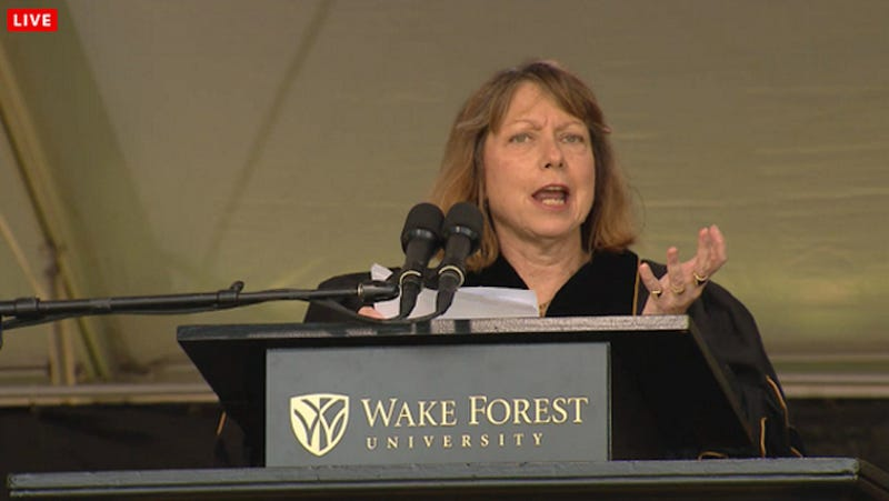 """Jill Abramson at Wake Forest: """"What's Next for Me? I Don't Know!"""""""
