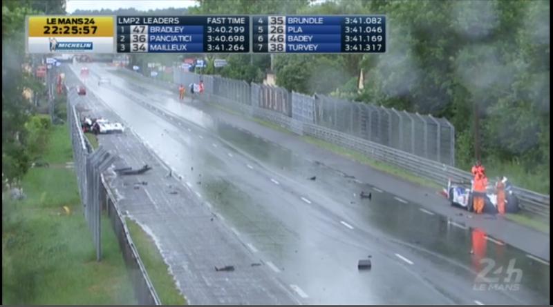 #3 Audi, #8 Toyota, And #81 Ferrari Involved In Big Crash At Le Mans