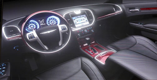 2012 Chrysler 300C Interior Gets Massive Touchscreen
