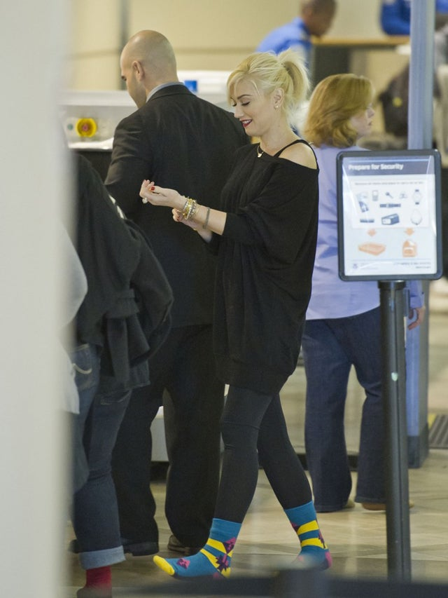 Gwen Stefani Charms The TSA With Rockin' Socks