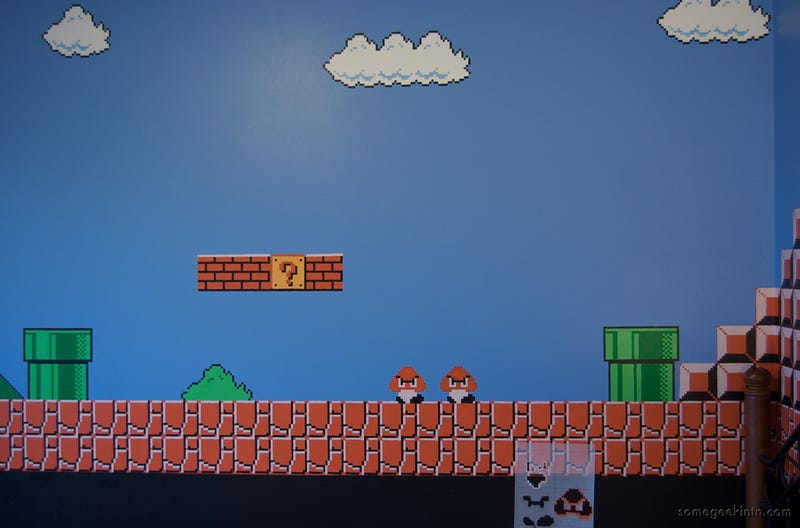 This Child Sleeps In A Mario Paradise