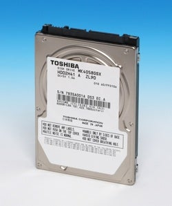 Toshiba's Slim 2.5-inch Hard Drive Beefed Up to 400GB