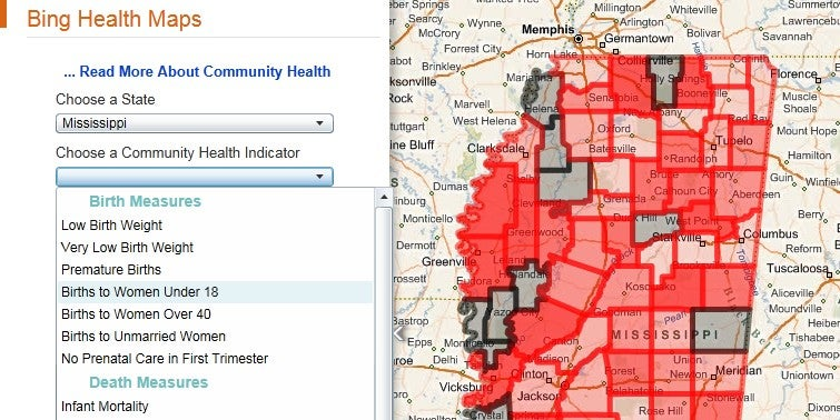 Bing Health Maps Highlight the Healthiest Places to Live