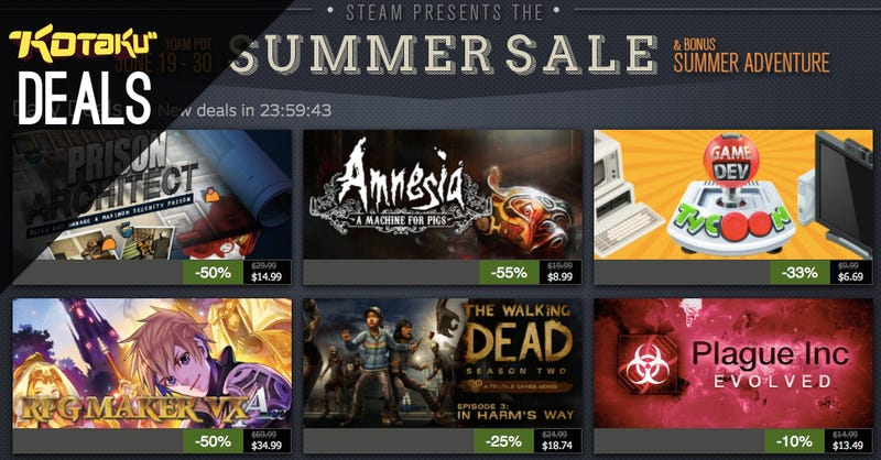 Steam Summer Sale Day Two, $350 Playstation 4, and More