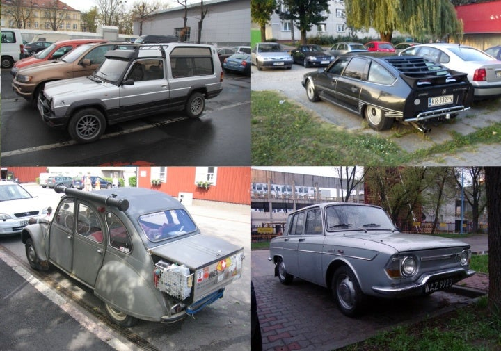 French Cars Living and Dying in Poland