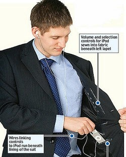 iPod-Compatible Suit Only for Men Who Dress to the Left