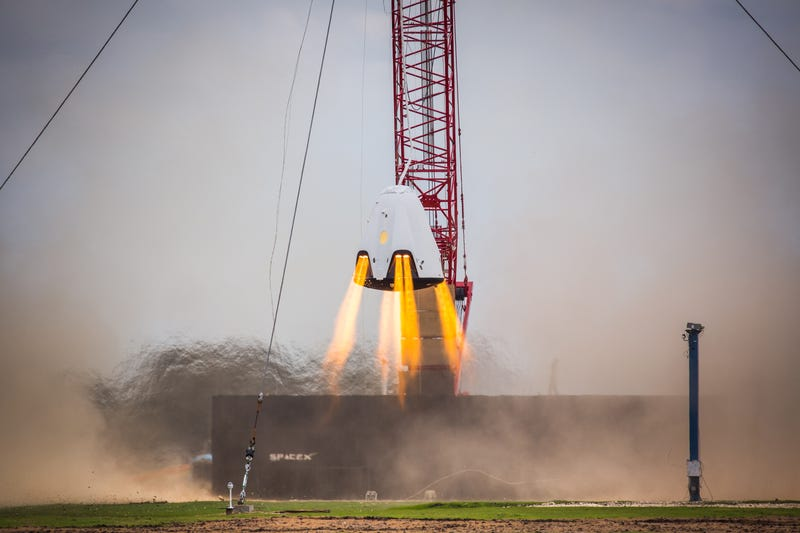 SpaceX's Crew Dragon Rocks Latest Hover Tests