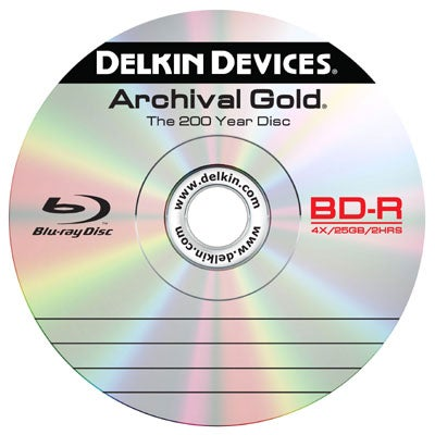 Delkin Archival Gold Blu-Ray Discs Keep Your Data Good for Two Centuries