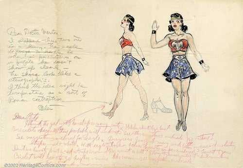 Sketch Shows The Birth Of Wonder Woman